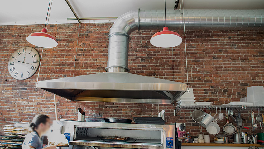 Pinchiff pizzeria hood installation